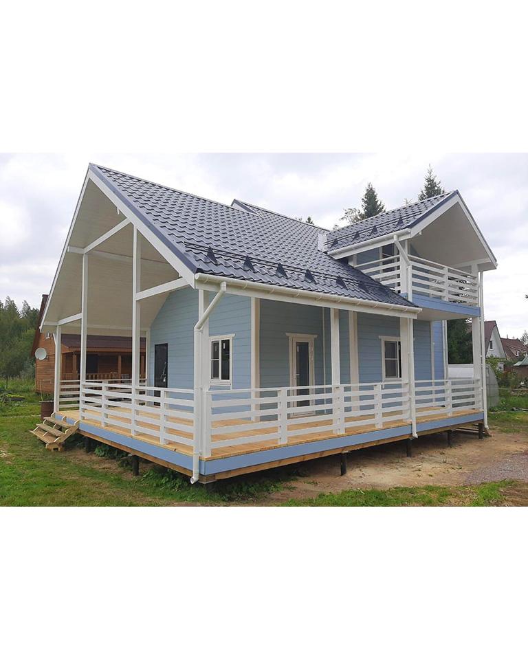 Фотоотчёт каркасного дома по индивидуальному проекту