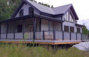 Фотоотчёт каркасного дома по проекту Д-104