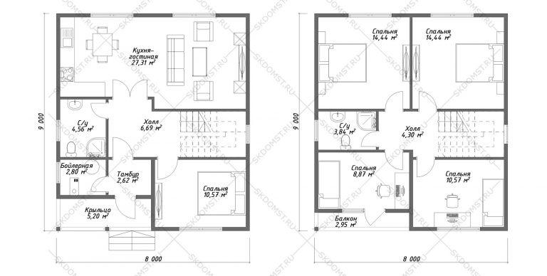 Проект_дома_Д-105_План