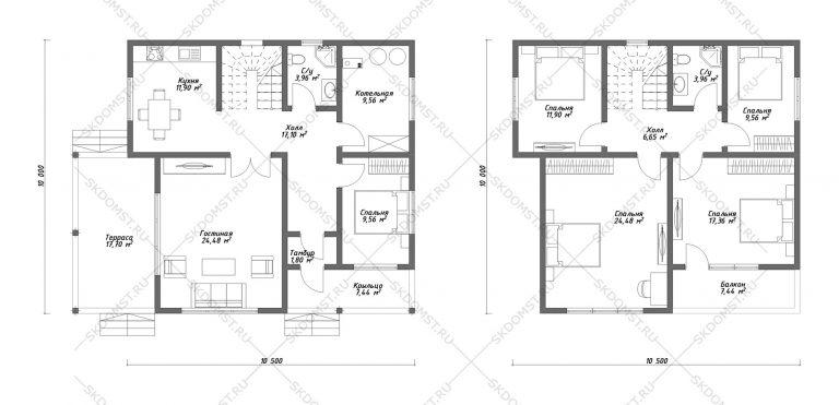 Проект-дома-Д-116_Планировка_2