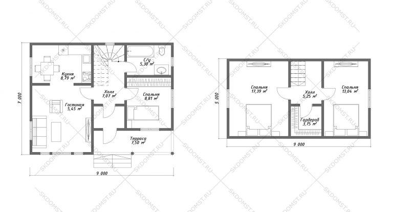 Проект-дома-Д-123_Планировка