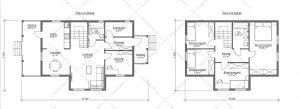 Проект-дома-Д-131-Планировка-1-вариант