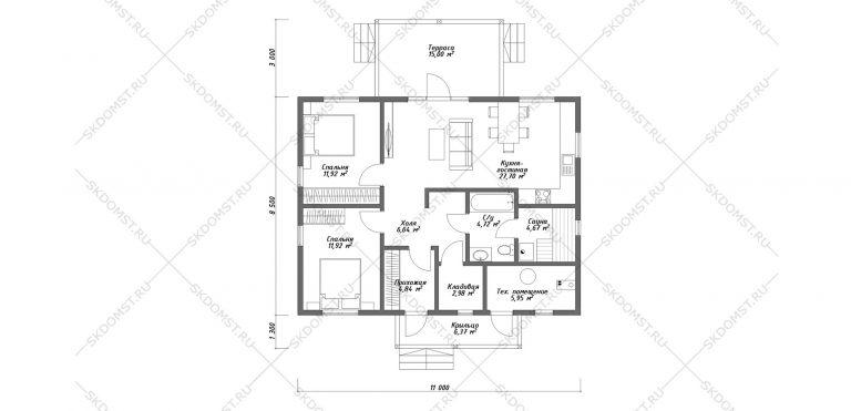 Проект-дома-Д-113-Планировка