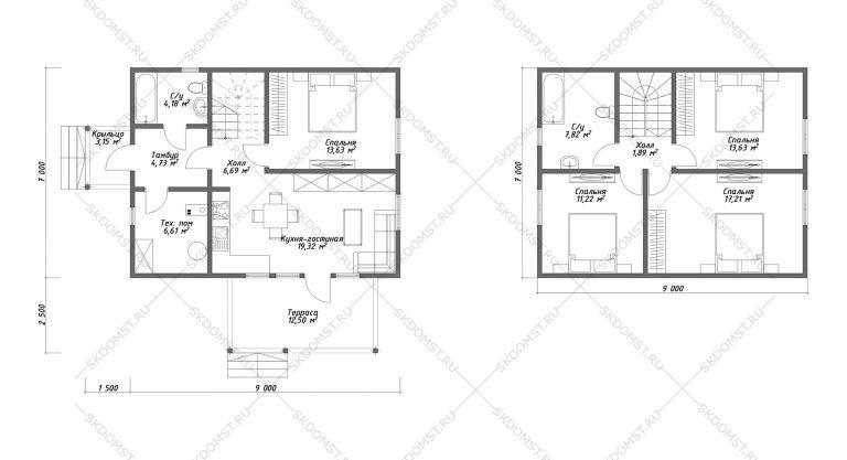 Проект-дома-Д-124_Планировка