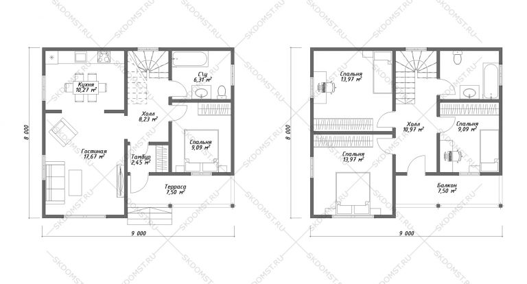 Проект-дома-Д-127_Планировка