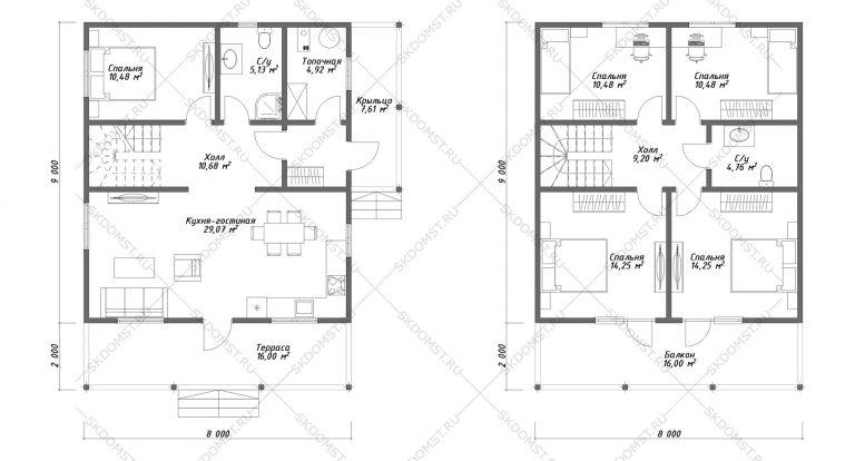 Проект-дома-Д-128-Планировка