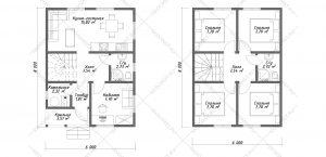 Проект-дома-Д-129-Планировка