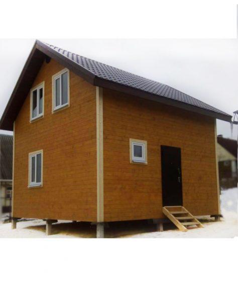 Каркасный дом 6х6 по индивидуальному проекту