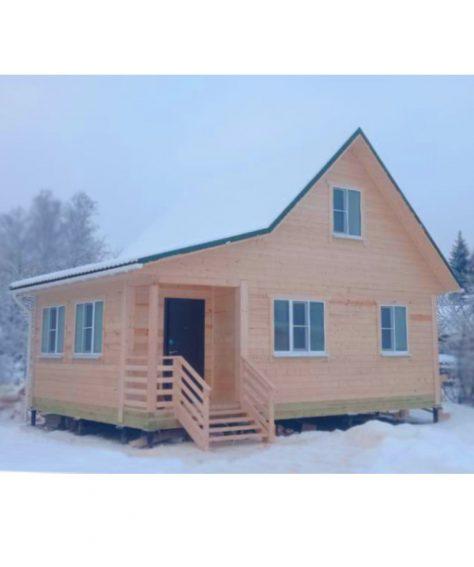 Фотоотчёт дома из сухого профилированного бруса по индивидуальному проекту