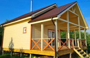 Фотоотчёт дома по индивидуальному проекту в с/п Бронницкое