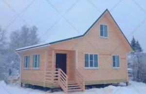 Дом из сухого профилированного бруса по индивидуальному проекту