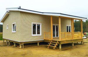Каркасный дом по проекту Д-113 в СНТ Защита